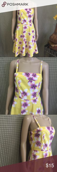 Divided Yellow Dress Super cute, gently used summer dress. Pretty, soft yellow color. Measurements provided in photos. For additional photos and measurements please feel free to ask. Offers welcome. Divided Dresses Midi