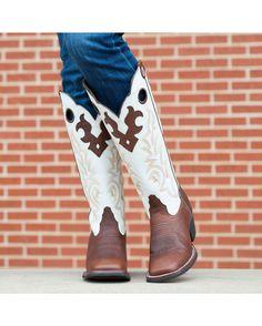 "Tony Lama Women's Beige Mustang 16"" Boot"