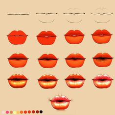 Delineate Your Lips - Drawing lips tutorial - How to draw lips correctly? The first thing to keep in mind is the shape of your lips: if they are thin or thick and if you have the M (or heart) pronounced or barely suggested. Doll Face Paint, Doll Painting, Realistic Eye Drawing, Drawing Tips, Doll Drawing, Learn Drawing, Digital Painting Tutorials, Art Tutorials, Parts Of The Eyeball