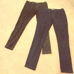 Eco yoga stretchy leggings  (M) Very soft Eco yoga stretchy pants. Never worn, tags removed! Sustainable organic clothing! Needs a new home! One pair is black, the other is dark blue Eco yoga  Pants Leggings