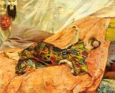 A Portrait of Sarah Bernhardt Reclining in a Chinois Interior, by Georges-Antoine Rochegrosse a French historical and decorative painter Knight Of Flowers, Arte Fashion, Oil Painting Gallery, Alfred Stevens, Art Français, Art Nouveau, Academic Art, Art Japonais, Western Art