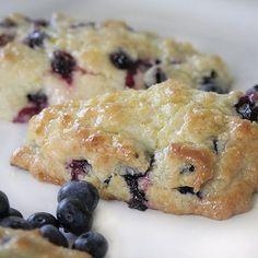 Tyler Florence blueberry scones with lemon glaze. Delicious!!!: