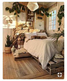 minimalist home 4 Top Tricks: Minimalist Interior Design Plants minimalist bedroom simple rugs.Boho Minimalist Home Decorating Ideas minimalist bedroom decor quartos. Dream Rooms, Dream Bedroom, Bedroom 2018, Bedroom Suites, Boho Bedroom Decor, Cozy Bedroom, Bedroom Rustic, Trendy Bedroom, Earthy Bedroom