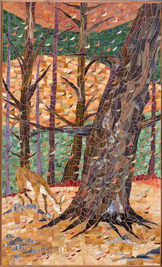 Rhonda Heisler Mosaic Art  New Jersey Landscape Suite:Autumn Leaves