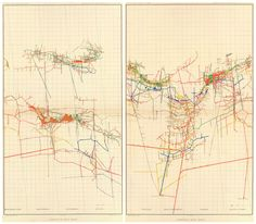 George F. Becker, Comstock Mine Maps - Numbers IV and V, 1882