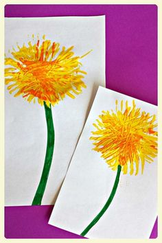 Autism-friendly Springtime crafts for kids. These fun flower crafts are ideal for working on fine motor skills, interaction & communication. Craft Activities For Kids, Preschool Crafts, Crafts For Kids, Arts And Crafts, Preschool Kindergarten, Dandelion Uses, Dandelion Flower, Fork Crafts, Spring Art