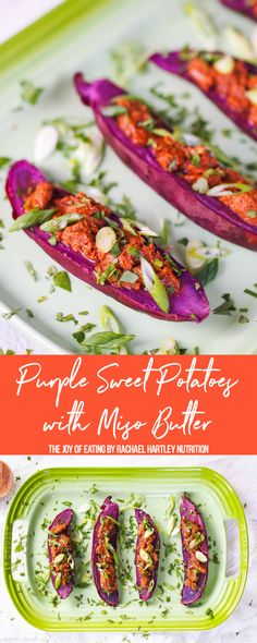 Purple Sweet Potatoes with Miso Butter