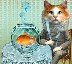 """""""Higher on the Food Chain"""" by Melissa Grimes Collage"""