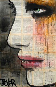 "Saatchi Online Artist: Loui Jover; Ink 2013 Drawing ""flow"""