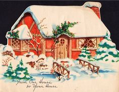 Cottage at Christmas.