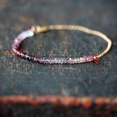 Spinel Array Bracelet Premium Gemstone Color by ShopClementine, $98.00