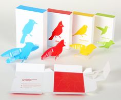 Bird Feed box that doubles as a paper bird