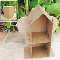 Print out this Eco Friendly Doll House Pattern on your home printer and turn any cardboard box into a house.  No need for tape or glue!