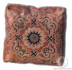 Cushion. Leather mosaic. 1920-30s.