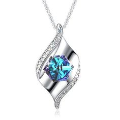 dce932793 Birthday Anniversary Jewerly Gift for Womens Pendant Necklace Swarovski  Cube New | Jewelry & Watches