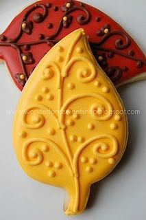 Autumn Leaf Cookies, double layer same color Leaf Cookies, Fall Cookies, Iced Cookies, Cut Out Cookies, Cute Cookies, Royal Icing Cookies, How To Make Cookies, No Bake Cookies, Cupcake Cookies