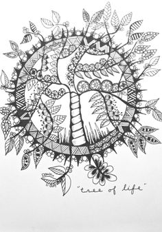 'Tree of Life' I love doing circular images. A5 - 11 July 2013