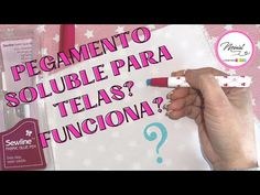 #35 😏👉PEGAMENTO SOLUBLE PARA TELAS, QUE CURIOSO 😃 - YouTube Youtube, Pasta, Sewing Patterns Free, Grow Tomatoes, Pattern Cutting, Create, Fabrics, Sleeves, Youtubers