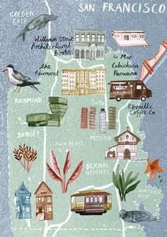 Livi Gosling - Map of San Francisco for Virgin Auatralia