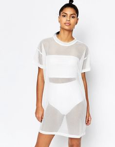 Image 1 of Story Of Lola Mesh Dress With Lace Up Back