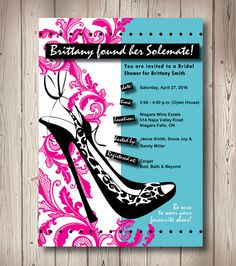 Solemate Bridal Shower  Shoe Themed by PinkLittleNotebook on Etsy, $15.00