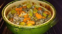 SÜLT OLDALAS MÁZAS CSERÉPEDÉNYBEN Okra, Pot Roast, Ethnic Recipes, Food, Carne Asada, Roast Beef, Gumbo, Eten, Meals