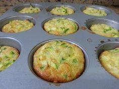 Mini quiche de abobrinha fácil e leve (utilize como opcao a massa: 3 ovos, 100ml creme de leite e queijo ralado)