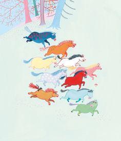 from TIO VILDA HÄSTAR (Ten Wild Horses)/ Grethe Rottböll and Lisen Adbåge