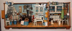 Puppenküche von Kibri ca. 1910 mit Vorratskammer