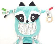 Fox Customize Baby Blanket Lovey Sensory Animal by SewDPopShop