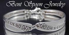 Spoon Bracelet Spoon Jewelry Silverware by Bentspoonjewelry, $22.00