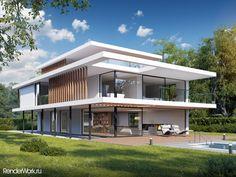 Modern Architecture House, Architecture Design, Sims 4 House Plans, Steel Frame House, Modern Villa Design, Hillside House, Box Houses, Luxury Homes Dream Houses, Small House Design