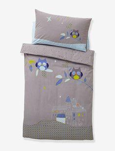 housse de couette fille tiny cat rose fonce uni avec decor vertbaudet enfant patchwork. Black Bedroom Furniture Sets. Home Design Ideas