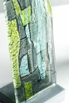 Bespoke kiln-formed glass detail. www.jovincent.com Kiln Formed Glass, Geology, Bespoke, Stained Glass, Colours, Vase, Detail, Collection, Taylormade