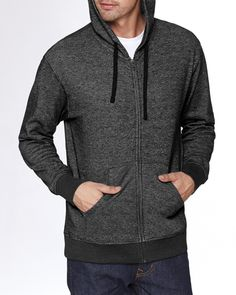 You can't beat a heathered look. This Next Level Adult Denim Fleece Full-Zip Hoodie comes in three awesome heathered styles and is a comfortable blend of cotton and polyester. It's also a unisex fit, and we've got up to 3XL!