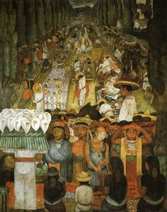 Good Friday on the Santa Anita Canal Diego Rivera