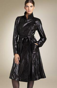 Long Leather Coat, Leather Skirt, Leather Jacket, Lady, Mantel, That Look, Womens Fashion, Skirts, Jackets