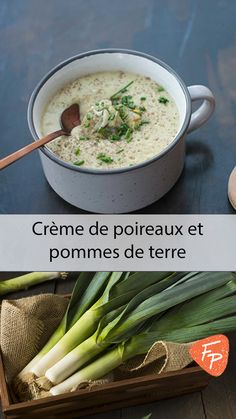 Soup Legumes Poireaux Ideas For 2019 Healthy Crockpot Recipes, Vegan Recipes, Cooking Recipes, Potato Recipes, Soup Recipes, Recipes Dinner, Prune Recipes, Gluten Free Soup, Crock Pot Soup