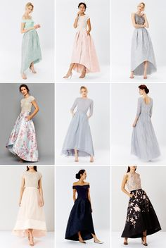 Bridesmaid Separates from Coast on SouthBoundBride Bridesmaid Skirt And Top, Bridesmaid Dresses 2017, Bridesmaid Separates, Unique Prom Dresses, Bridesmaid Outfit, Party Dresses For Women, Wedding Dress Styles, Wedding Party Dresses, Bridesmaids