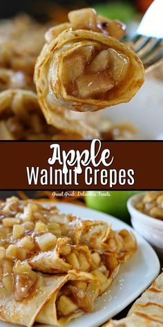 Whether you're looking for a great breakfast or brunch recipe or a delicious dessert, apple crepes are always a good choice! These crepes filled with delicious apple crepe filling are so simple to make and can be incredibly versatile! Breakfast Crepes, Crepes And Waffles, Crepes Nutella, Pancakes, Apple Crepes, Banana Crepes, Savory Crepes, Brunch Recipes, Dessert Recipes
