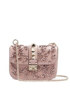 c5a9edfe237d Click here to buy Valentino Lock small embellished leather shoulder bag at  MATCHESFASHION.COM Leather