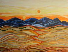 Title In The Beginning Artist Kathleen Peltomaa Lewis Medium Painting - Acrylic On Canvas