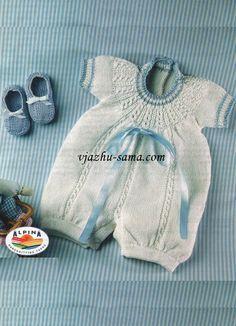 Боди для новорожденных спицами