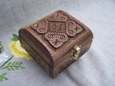 Intricate wooden box from the Ukraine