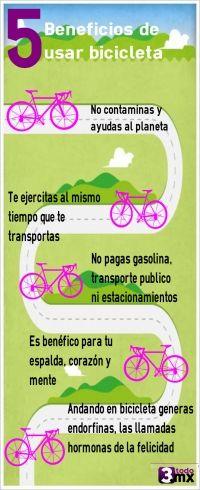 Conoce algunos de los beneficios que tiene usar la bicicleta!