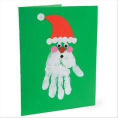 Hand print Father Christmas