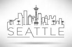 10 USA Cities Linear Skyline - Icons - 2