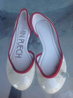 Jamin Puech CREAM / RED Inflatable Patent Leather Ballet Size 10 Flats. Get the must-have flats of this season! These Jamin Puech CREAM / RED Inflatable Patent Leather Ballet Size 10 Flats are a top 10 member favorite on Tradesy. Save on yours before they're sold out!