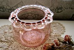 Vintage Old Colony Pink Depression Glass