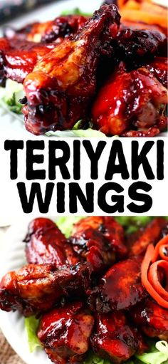 Teriyaki Chicken Wings...phenomenal, the best you'll ever eat. Tender and bursting with flavor. Slightly crispy with a sauce that's on the wings and not laying beside it in a little puddle and very easy to make.